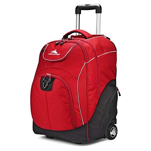 High Sierra Powerglide Lightweight Wheeled Laptop Backpack, Chili Pepper/Black