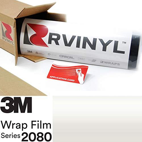 3M 2080 SP10 Satin Pearl White 5ft x 2ft W/Application Card Vinyl Vehicle Car Wrap Film Sheet Roll