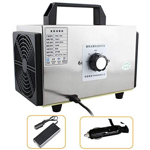 GXFC Generatore di ozono Auto e casa 10000mg/h DC 12V purificatore d'Aria Domestico con Cavo accendisigari e convertitore 110 V-220 V (Certificazione CE)