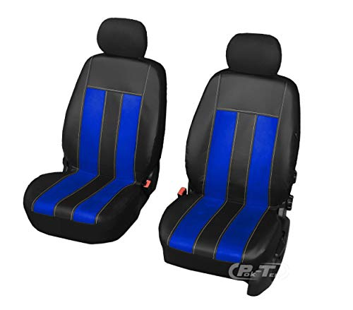 Nieuwe serie - GT universele stoelhoezen compatibel met Ford Fiesta eenvoudige montage voorste hoezen GT OCEAN