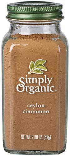 Simply Organic Ceylon Cinnamon, Ground | Certified Organic | Kosher Certified | 2.08-Ounce...