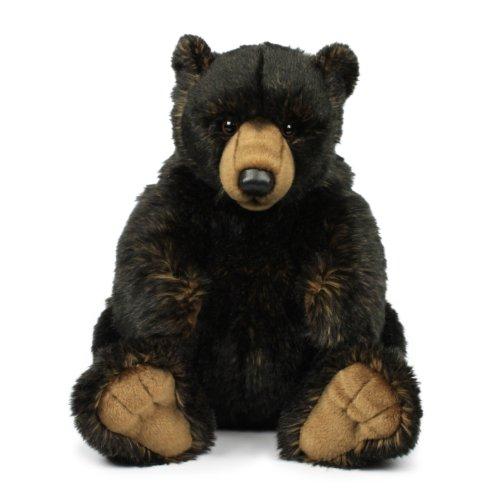 Mimex WWF14791 - Plüsch, Grizzlybär, 32 cm, schwarz