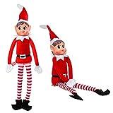 Nueva Navidad - Elfos Behavin Badly Red 12 Pulgada Muñeca Suave de Pierna Larga Travieso Duende...