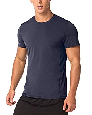 Lapasa Men's CUPRO Performance T-shirts - ADVANCED ANTI-ODOR TECHNOLOGY - Running Gym Top Wicking Sports Tee