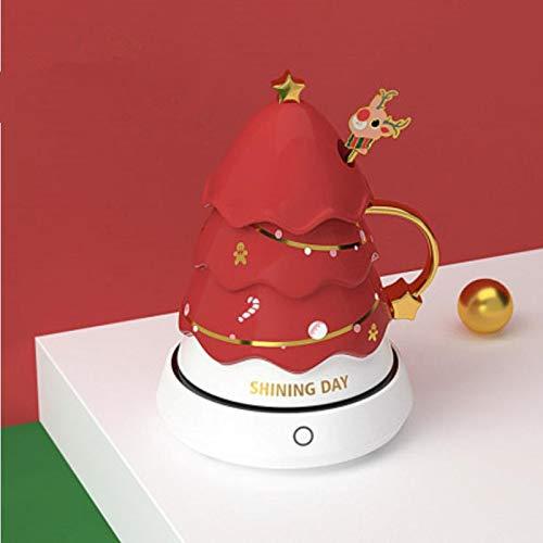 HRDZ Taza de cerámica Creativa de Navidad Taza de café de Pareja Taza Linda de Alto Valor Regalo de cumpleaños Chica