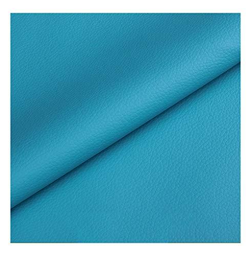 wangk Tela de Polipiel para Tapizar Tela de Imitación de Ancho 137cm Tejido de Piel sintética para Sofá Asiento de Coche Muebles Chaquetas Bolso Polipiel para Tapizar -Sky Blue 1.37x6m