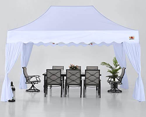 ABCCANOPY 10x15 Party Tent Patio Gazebo Canopy for Party Pop Up Canopy Tent, White