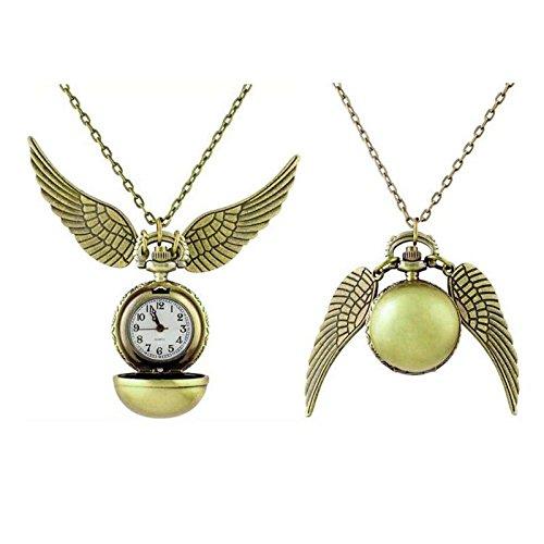 rongxinuk Uhr Harry Potter Schnatz Quidditch Flügel Uhr Fashion Aufhängen Drop