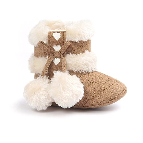 ESTAMICO Baby Plush Winter Snow Bowknot Boots