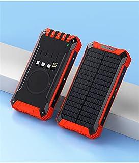 FANGZI Ström bankSolar Charger Power Bank 20000mah Trådlös laddare Powerbank Inbyggd kabel för 12 Pro 11 Xiaomi Samsung S2...