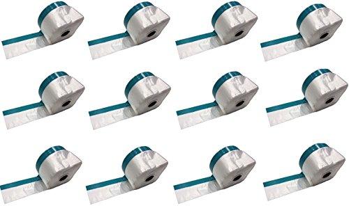 Profi Masker Tape mit Gewebeband 55cm Folie x 20m | UV-beständig | Abdeckfolie, Folien-Masker mit Steinband, Kombi Mask Tape, Folie mit Klebeband (12)