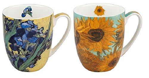 McIntosh MC020162 Van Gogh Flowers Mug Pair, Multicolors