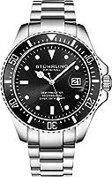 Stuhrling - Reloj de Buceo para Hombre, diseño de Buceo Deportivo con Corona de Rosca y Resistente al Agua hasta 100 m,...