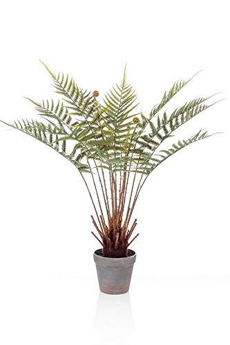 artplants.de Set de 2 helechos arbóreos sintéticos CAMASO en Maceta Decorativa, 60cm - Palmera Artificial - Pack de Palmeras Falsas