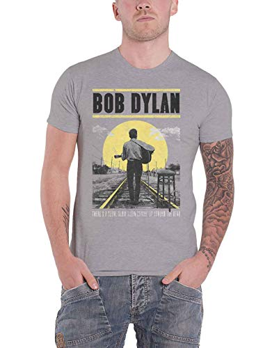 Bob Dylan T Shirt Slow Train Comin Up Nue offiziell Herren Grau