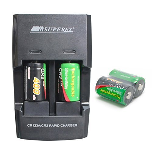 SUPEREX 4 PCS 3volt 400 mAh CR2 15270 Batteries + Car...