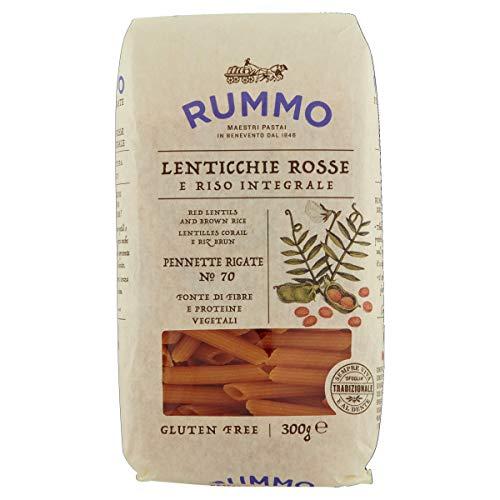 Rummo Pasta base de lentejas rojas y arroz integral, 300 g