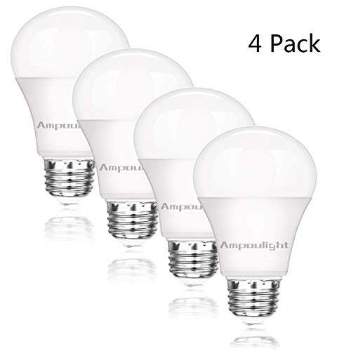 LED Light Bulb 100W Equivalent, A19 Natural White 4000K 1600LM Non-Dimmable E26 Medium Screw Base 15W Light Bulb (4 Packs) by Ampoulight