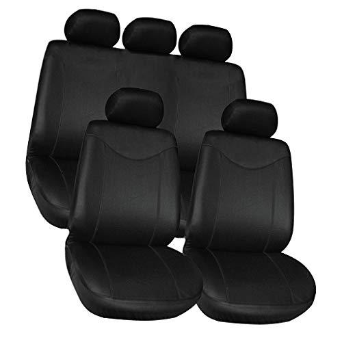 Toygogo Cubre Negro Juego Completo Completo 9 Piezas para Tapicería de Vehículos Automotrices