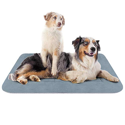 Hero Dog Large Dog Bed Crate Pad Mat 47 Inch Washable Matteress Anti Slip Cushion for Pets Sleeping