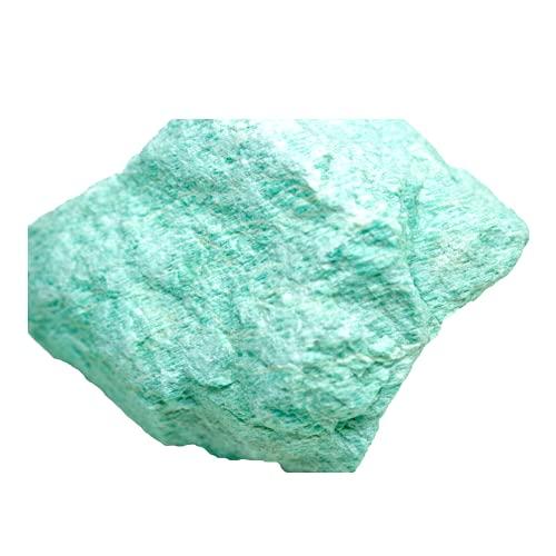 Steinfixx Piedra preciosa de amazonita, piedra curativa, piedra bruta, piedra chakra, sin tratar, Brasil (300-400 g)