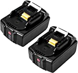 <span class='highlight'><span class='highlight'>FLYLINKTECH</span></span> BL1850 18V 5.0Ah Li-ion LXT Battery Pack Replacement for Makita BL1840 BL1830 BL1820 BL1815 Cordless Drills with Battery Indicator (2 Pack)