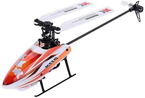 Mnjin Tragbare 6-Kanal-Querruderhubschrauber-Drohne, RC Quadcopter-Drohne mit Headless-Modus für Höhenlage 3D-Flips 2,4 GHz 6-Achsen-Gyro-Jet RC-Modellflugzeug Flugsimulator RTF-Fernbedienung EPP