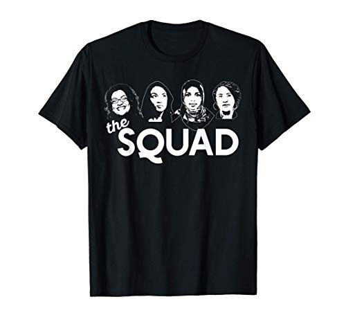 THE SQUAD Tlaib Ocasio-Cortez Omar Pressley WOC AOC Meme T-Shirt