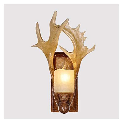 Lámpara de pared Lámpara de luz, Lámpara de luz creativa Mesita de noche Dormitorio Lámpara de escritorio Deer Antlers Trophy Woodland Highland Accesorios Regalos Lámparas de pared