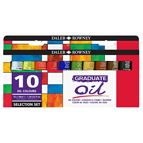 Daler Rowney 117900100 Graduate Oil Selection Set 38ml) (Pack of 10) - Multicolor
