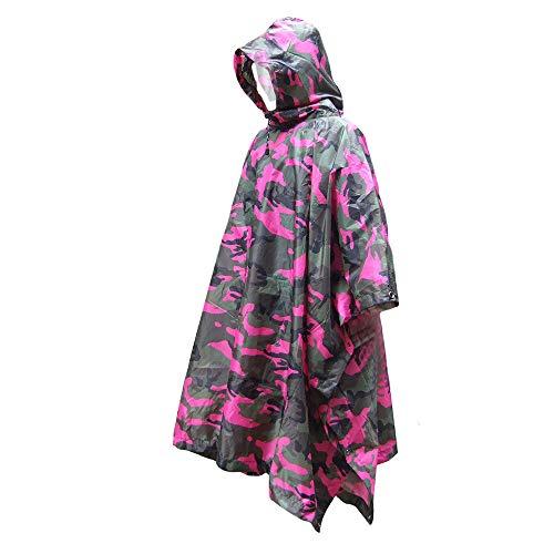 Poncho de pluie imperméable Veste de pluie imperméable pour femmes, costume de poncho à capuche imperméable Veste de manteau de pluie de moto pour équipement de protection pour activité de plein air a