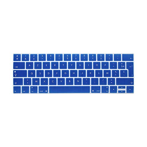 For MacBook Pro Retina 13 15 TOUCHBAR 2016 Models A1706 A1707 French Language Keyboard Cover Coque Clavier AZERTY pour-darkBlue-