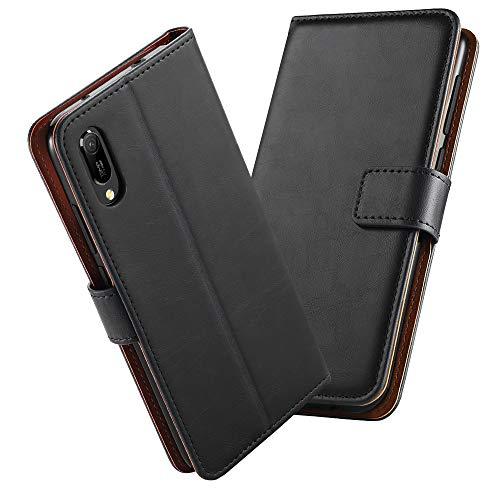 GeeRic Kompatibel Für Huawei Y6 2019 Hülle, [Standfunktion] [Kartenfach] [Magnet] [Anti-Rutsch] PU-Leder Schutzhülle Brieftasche Handyhülle Kompatibel Mit Huawei Y6 2019 Schwarz - 2