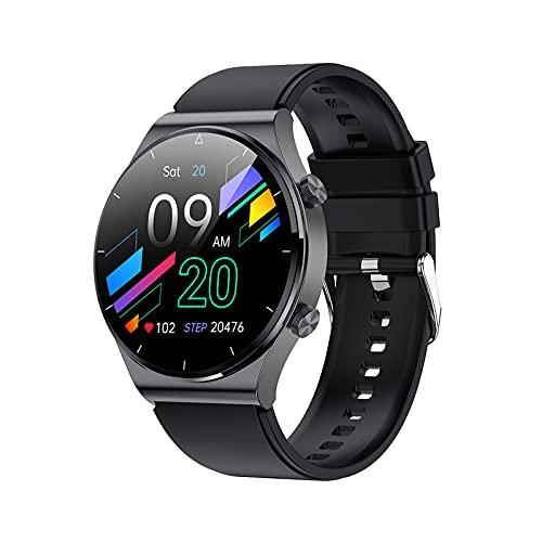 PYAIXF Smartwatch, 1,3 Pulgadas Impermeable Rastreador De Fitness Reproducir Música Llamada Bluetooth 10 Días De Duración De La Batería por Hombres Mujeres-Black