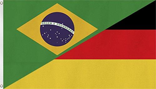 normani Fahne/Flagge Länderflagge Deutschland und andere Länder 90 x 150 Farbe Deutschland/Brasilien