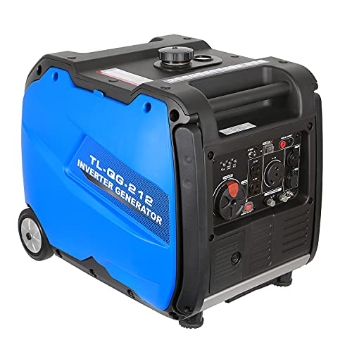 BILT HARD Quiet Inverter Generator 4000 Watt, 212cc Gas Powered Outdoor Generator for RV Ready Camping & Home Backup, 50 State Approved, with Electric Start