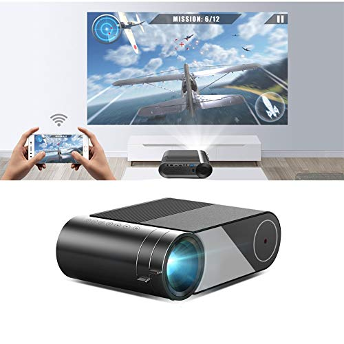 Mini 1280x720P Portable Video Beamer, LED Projector for 1080P 3D 4K Cinema, Support HD, USB,VGA, AV, Audio Out (Optional Version : Basic Version)