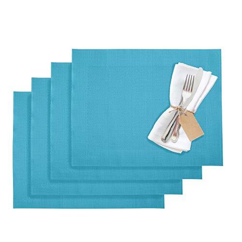 Westmark Tischsets/Platzsets, 4 Stück, 42 x 32 cm, Synthetik, Türkis, Saleen Edition: Home