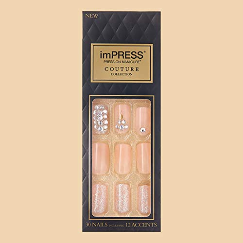 Kiss Impress Press-on Manicure One-Step Gel Nails Couture Collection - Life (Pack of 1)