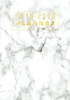 2018-2019 Planner: Marble Weekly & Monthly Schedule Diary | Get Things Done At A Glance, High School, College, University, Home, Organizer Calendar ... | Medium Paperback (Education) (Volume 16)