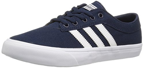 Adidas Sellwood Collegiate Navy/FTW White Ankle-High Canvas Skateboarding Shoe – 5.5M