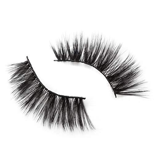 TOPSELD 9Paire 5D falschen Wimpern Fluffy-Streifen Wimpern Lange natürliche Partei Make-up