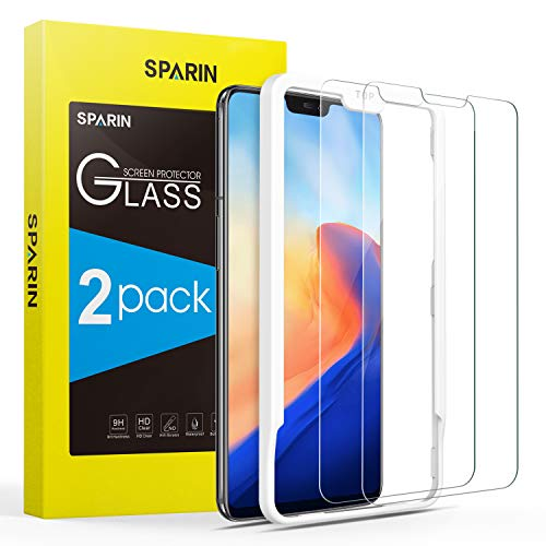 [2 Pack] Screen Protector for OnePlus 6, SPARIN Tempered Glass Screen Protector for OnePlus 6 (6.28 Inch) - Alignment Frame/Easy Installation/Highly Definition