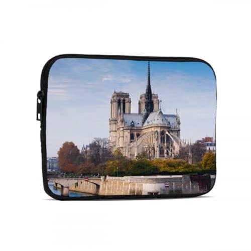 Bolsas para Tableta Hermosos Accesorios para iPad de Notre Dame de Paris compatibles con iPad de 7.9/9.7 Pulgadas Bolsa Protectora de Neopreno a Prueba de Golpes con Cremallera y asa
