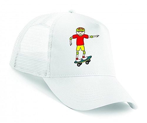 Snapback Boarder- Brett- Junge- SPAß- GLÜCKLICH- Skate- Skateboard- Sport- Helm Unisex Baseballmütze Trucker Mützen Base Caps