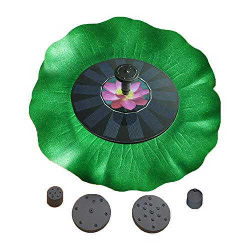 Gereton Bomba de Fuente Solar Lotus, Bombas de Agua solares flotantes Independientes para baños de pájaros 1.4W para jardín, Patio, Estanque, Piscina
