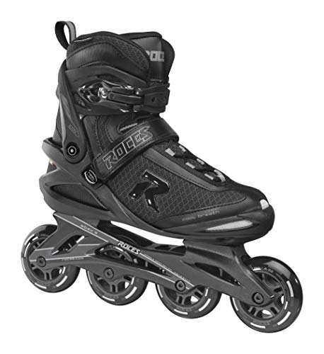 Roces Herren ICON Inline-Skates, Black-Dark-Charcoal, 36