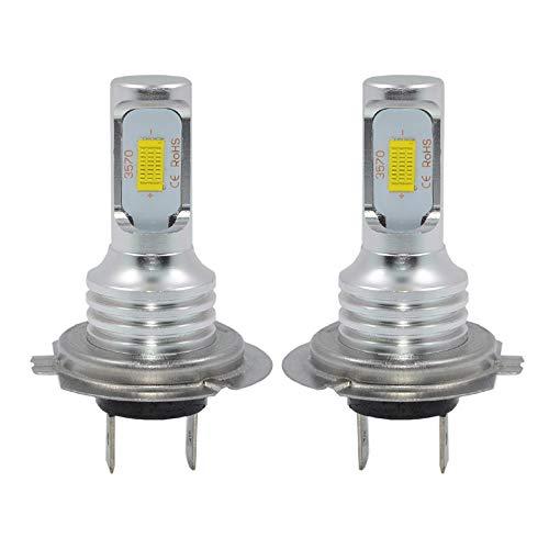 H7 LED Fog Light Bulb Newest Version 3570 CSP-Chips LED Fog Lamp Bulbs White 6000K Use For Fog Lights
