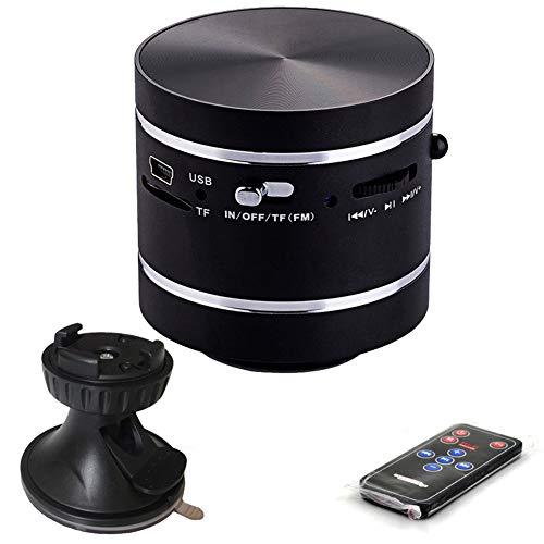 NFY Mini Metal Vibration Bluetooth Speaker mit resonanzsauger, Wireless Resonance Lautsprecher Portable Subwoofer mit FM TF Input für zu Hause im Freien