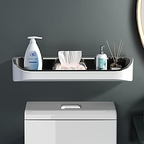 Bathroom Organizer Over Toilet Wall Mounted, Floating Decorative Storage Shelves, L 17.7''W 5.1'', Save Space